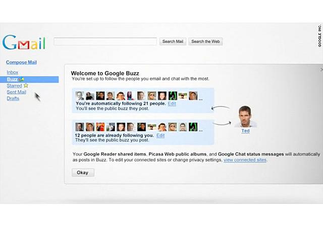 Google Buzz конкурира популярните социални мрежи