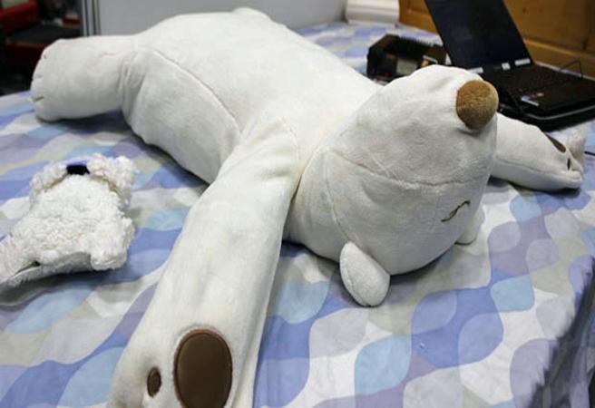 Мека мечка, която ви гали с лапа, ако хъркате
