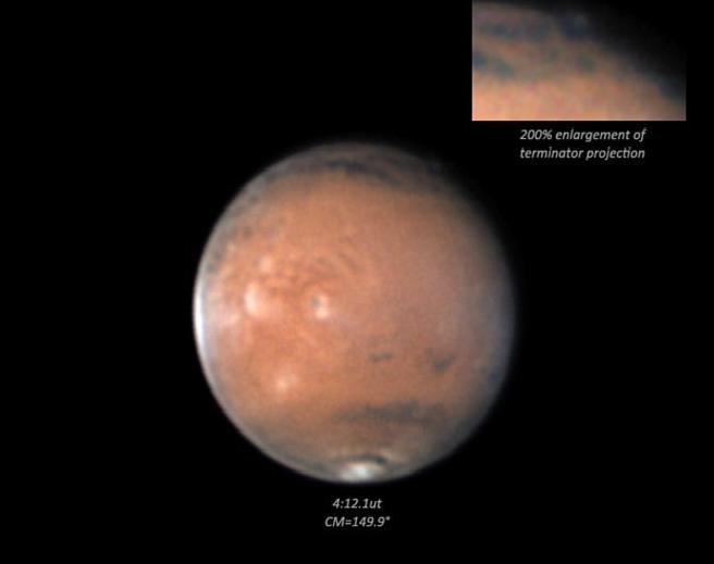 На Марс забелязаха странни облаци