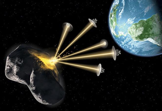 Спътници срещу астероидите