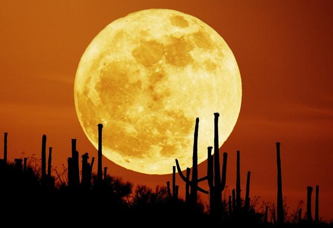 Кога Луната е по-голяма?