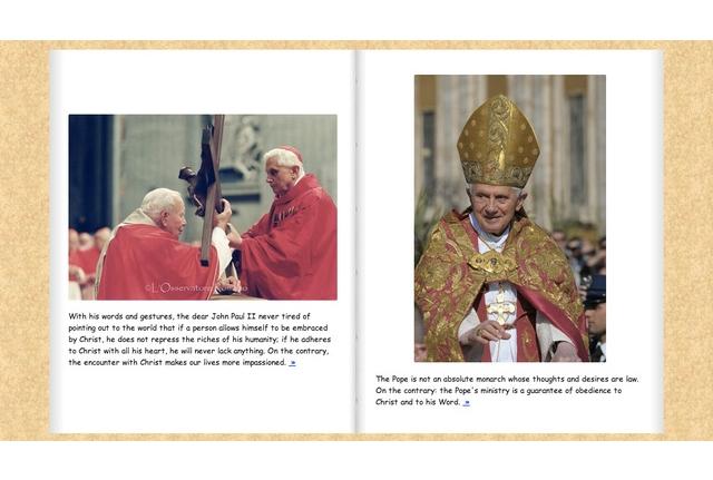 Фото албумът на папата използва Comic Sans