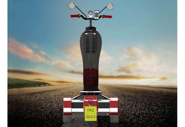 Скутерът Tri-GO – един от вариантите за транспорт на бъдещето