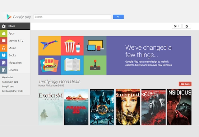 Това е новият уеб интерфейс на Google Play