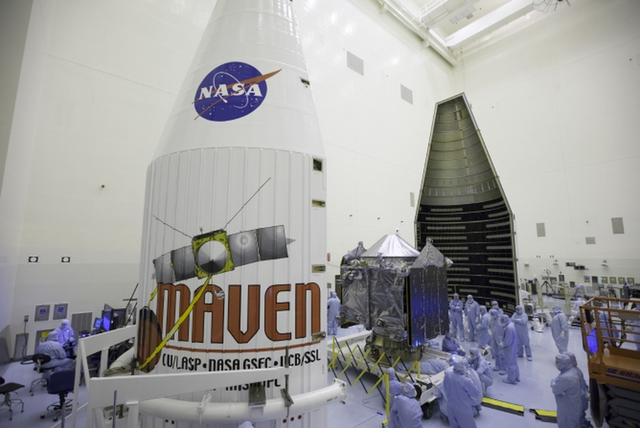 NASA изстреля космическия кораб Maven към Марс