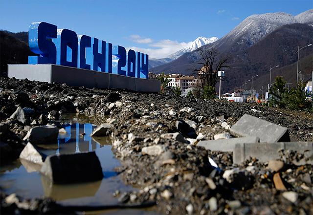 Олимпийското градче Сочи е нещо средно между блато и строителна площадка