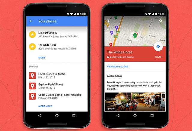 Google прави My Maps интеграцията достъпна в Android