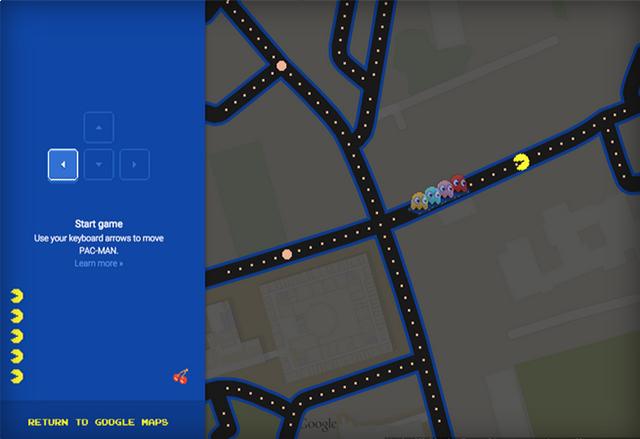 Google ни позволява да играем Pac-Man в Google Maps по случай 1 април