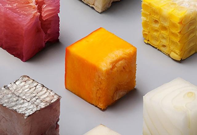 Дизайнери създават перфектни кубчета от различни храни