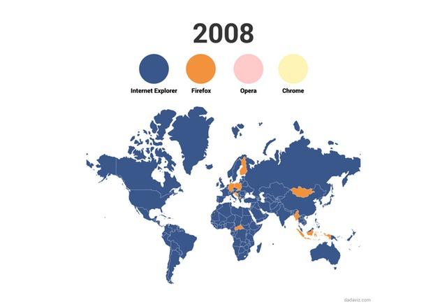 Вижте как светът преминава от Internet Explorer към Chrome