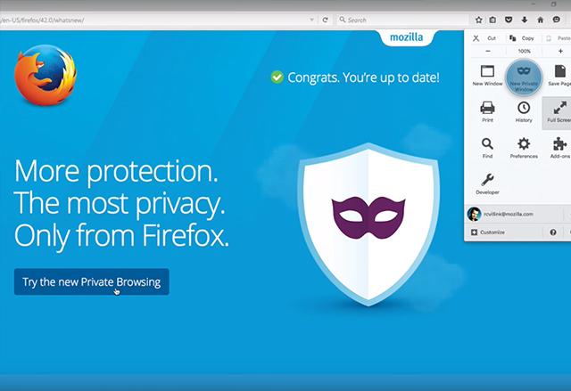 Private Browsing режимът в новата версия на Firefox ще играе ролята и на рекламен блокър