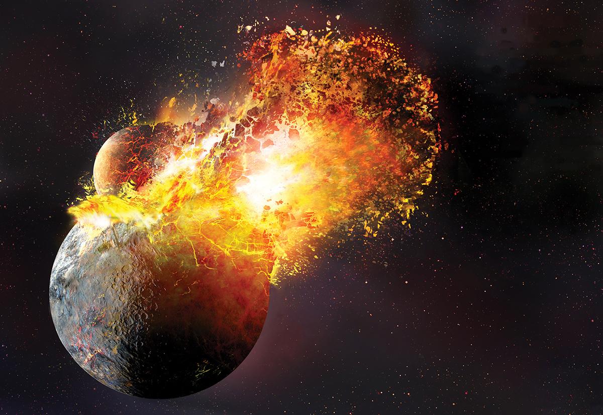 Луната се е формирала в резултат на директен сблъсък между Земята и оформяща се планета