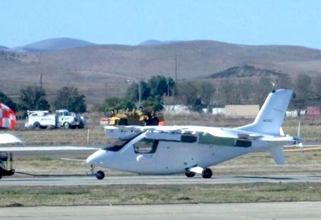 Първа снимка на летящата кола на Лари Пейдж