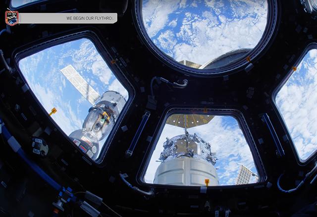 NASA публикува 4K видео с виртуална разходка в Международната космическа станция