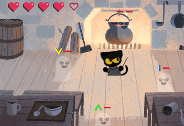Новият дудъл на Google е браузър игра в духа на Хелоуин