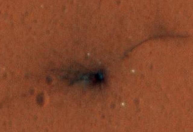 Ето първата цветна снимка от падането на Schiaparelli на Марс
