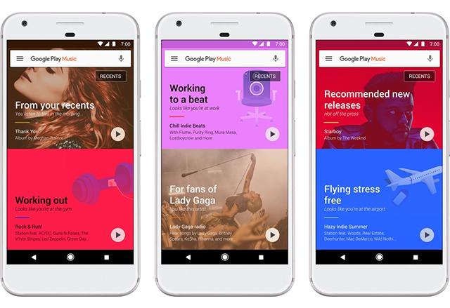 Google Play Music получава нов облик и по-добър изкуствен интелект