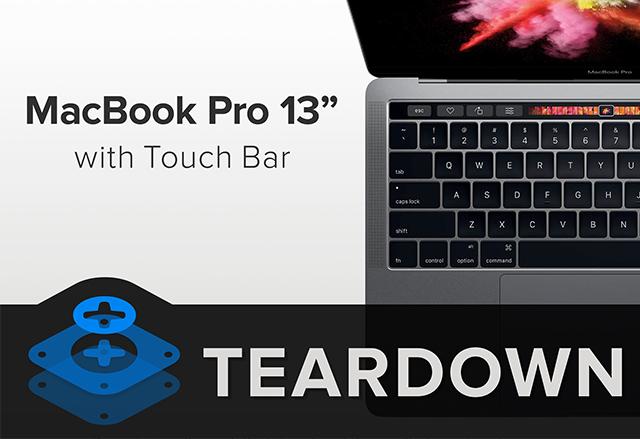 iFixit разглобиха 13-инчовия MacBook Pro с Touch Bar