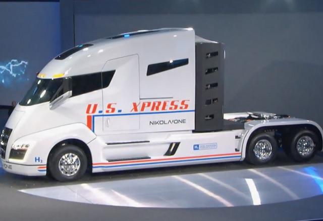 Nikola One е първият камион с водородно гориво