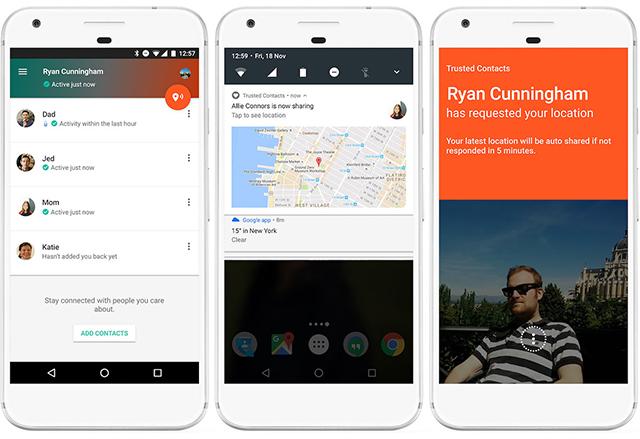 Google пусна приложението Trusted Contacts, за да уведомявате близките си, че сте добре