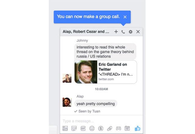 Facebook ще направи функцията за групови гласови разговори достъпна и от настолни компютри