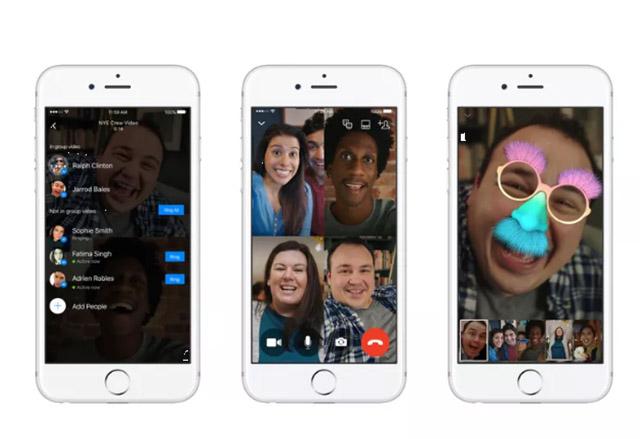 Facebook Messenger вече предлага опция за групови видео разговри с до шест души