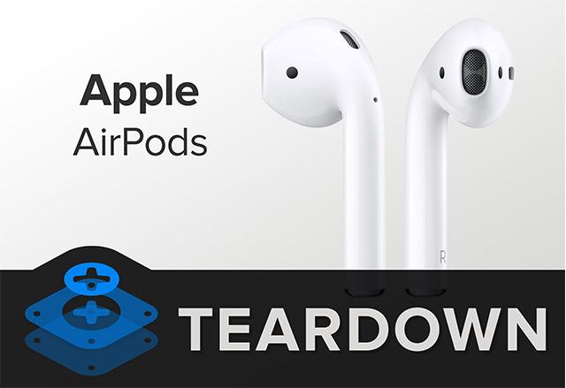 Безжичните слушалки Apple AirPods бяха разглобени от iFixit