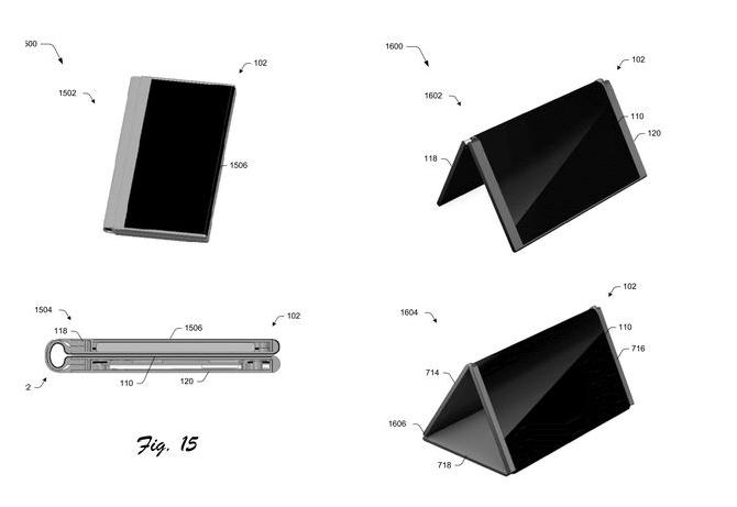 Microsoft патентова таблет, който се прегъва до формата на смартфон