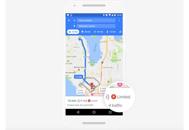 Google Maps за Android вече предлага информация за паркоместа в 25 американски щата
