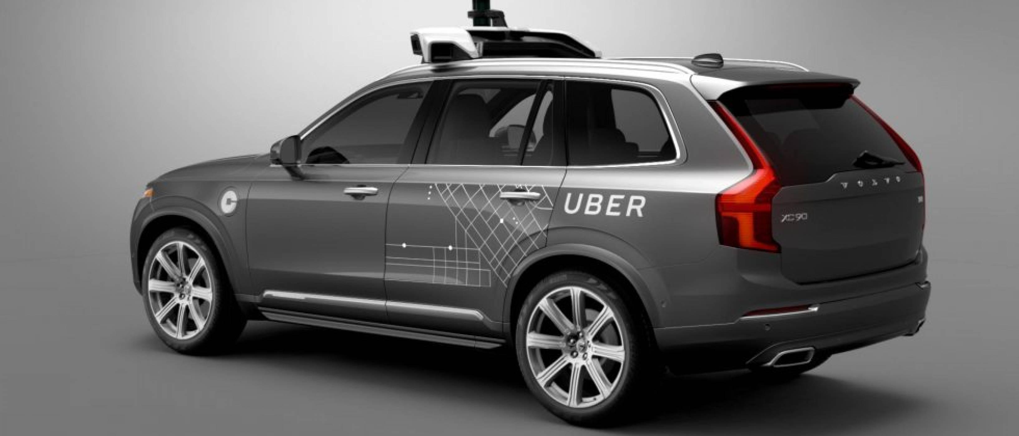 Самоуправляваща се кола на Uber се обърна в Аризона
