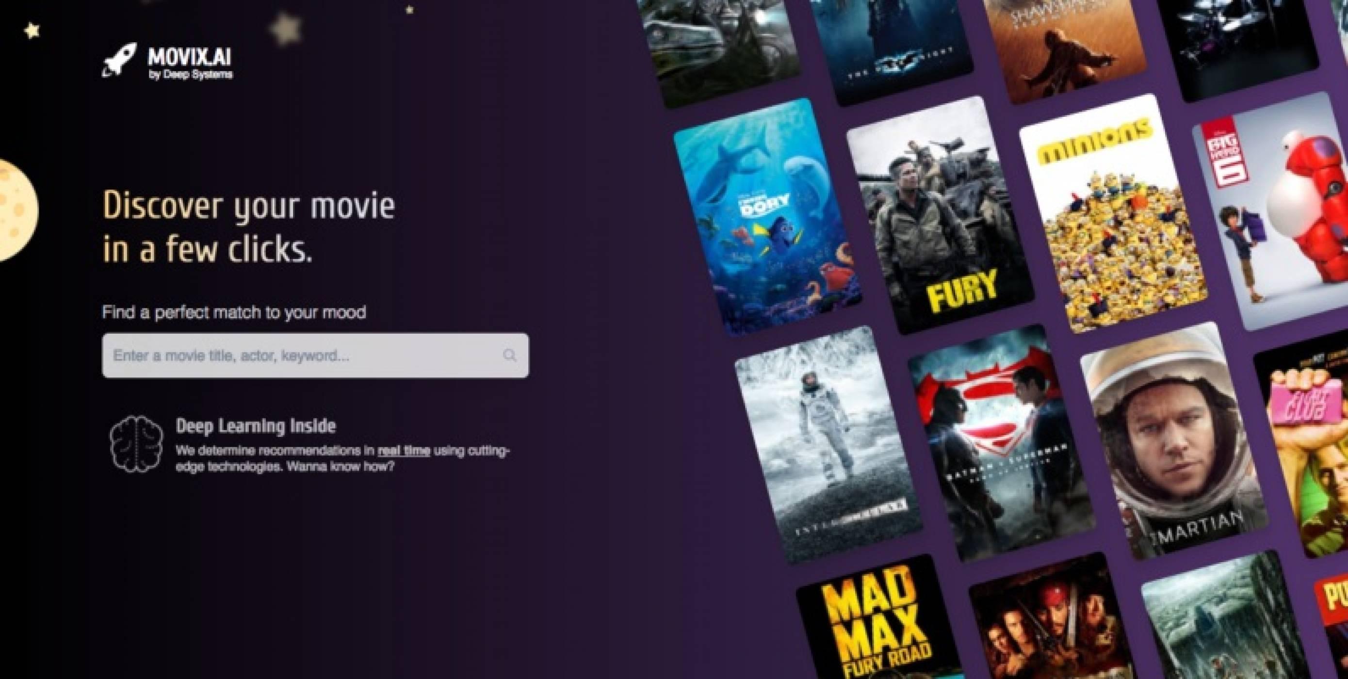 Movix е изкуствен интелект, който незабавно ще ви препоръча готин филм
