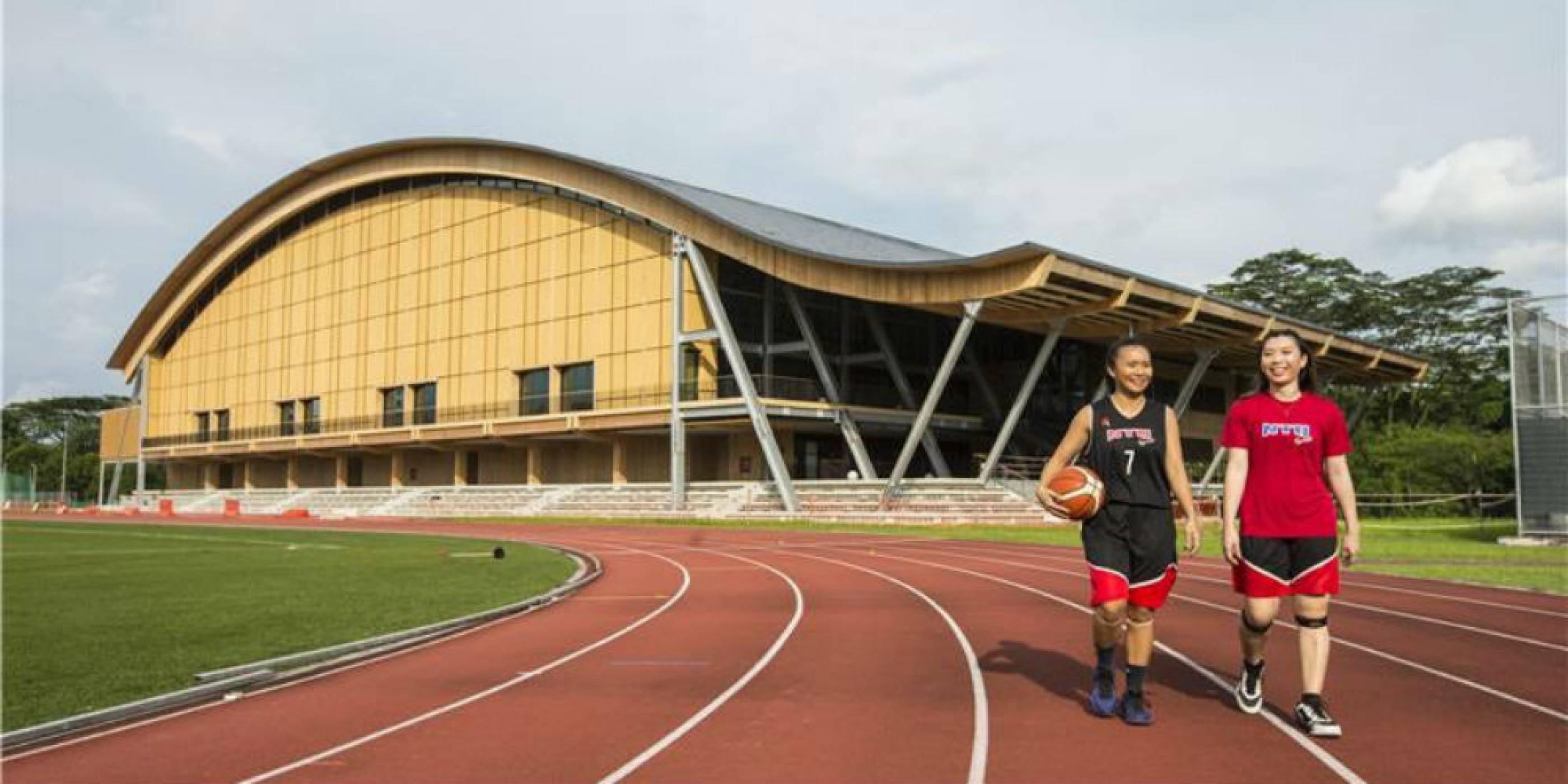В Сингапур построиха закрит стадион от дърво