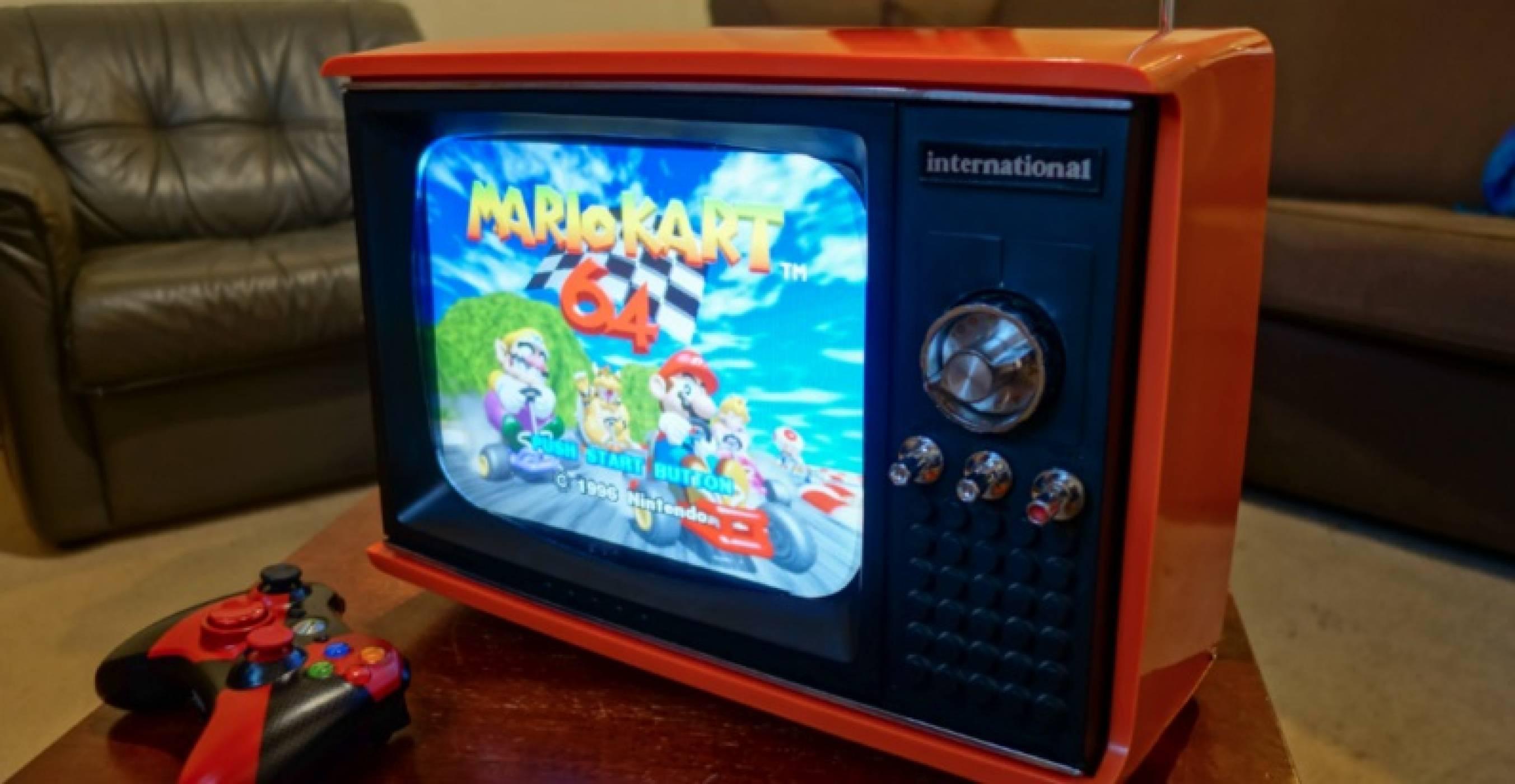 Този античен телевизор всъщност е невероятна ретро конзола, захранвана с Raspberry Pi