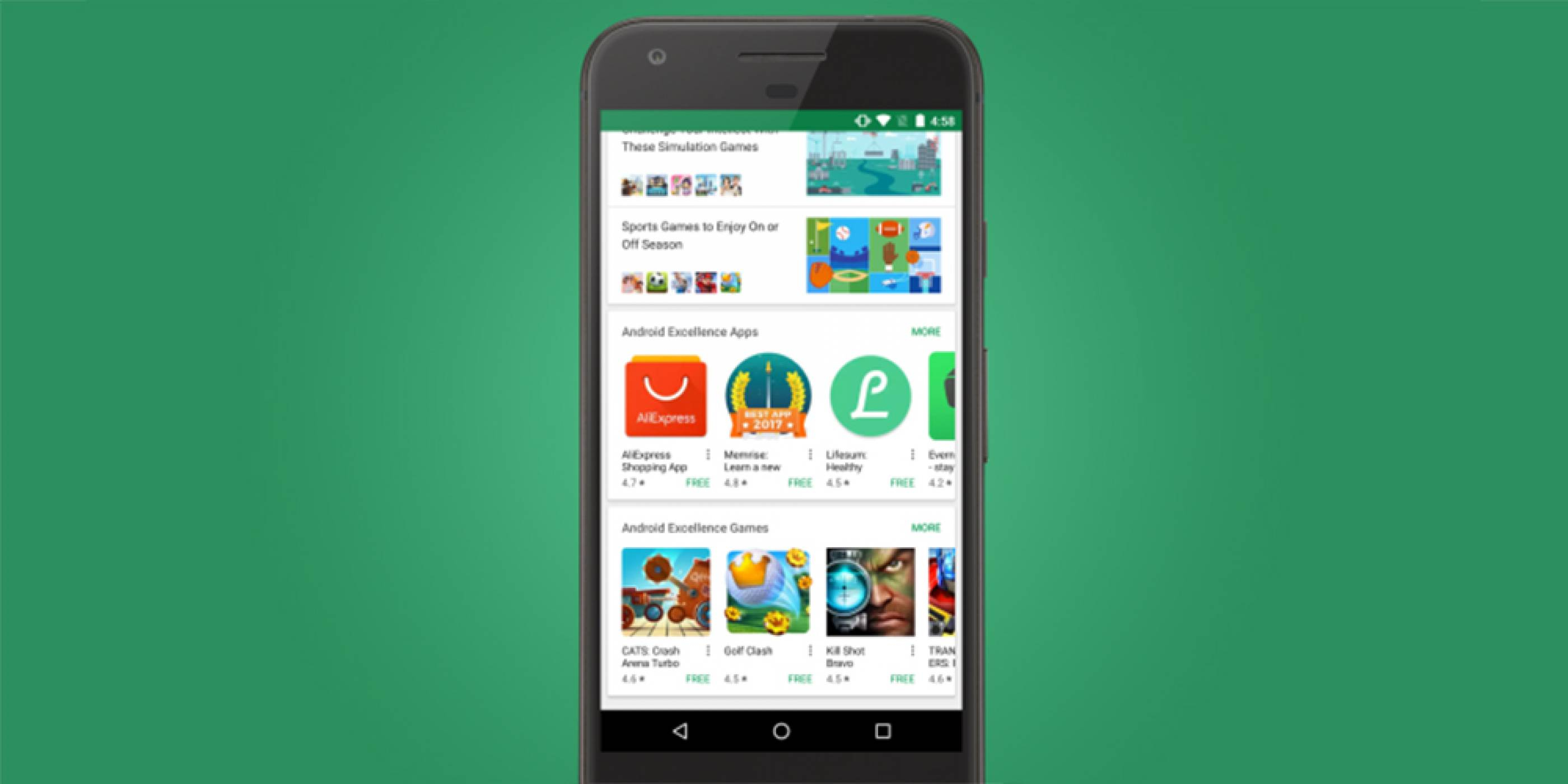 Google представи своята Android Excellence класация в Play Store