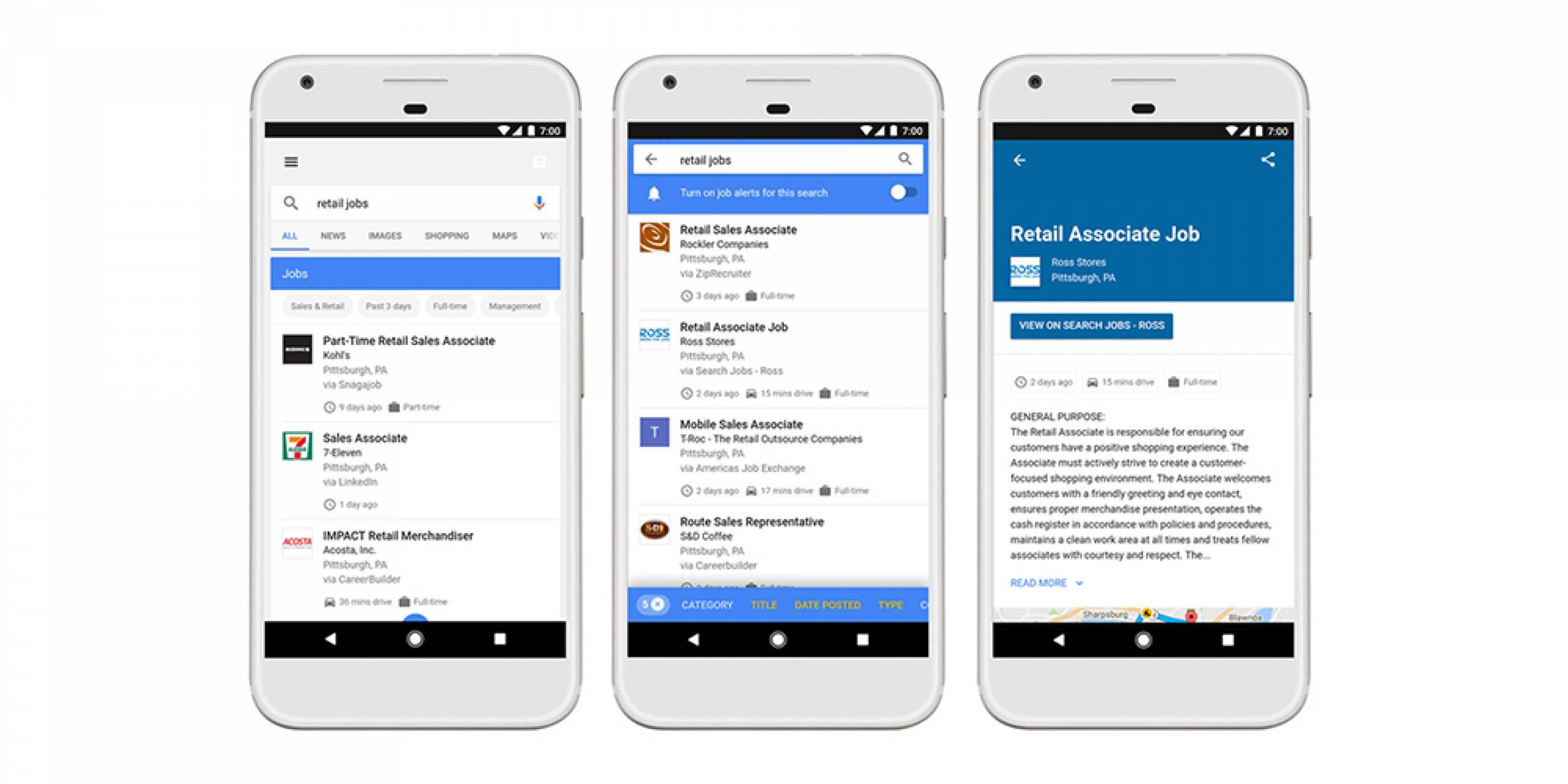 Google Search ще ви помогне да намерите следващата си работа