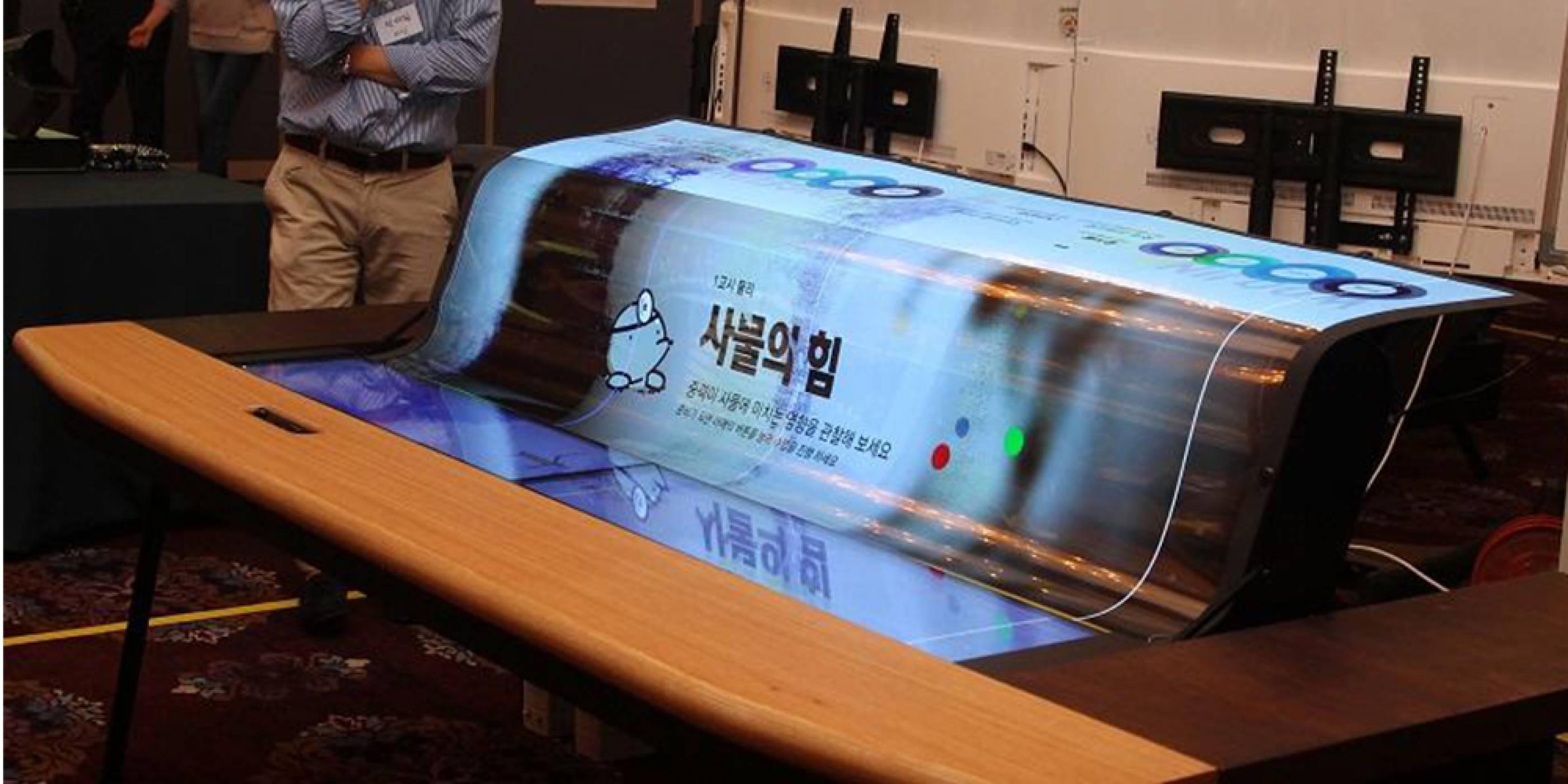 LG създаде гъвкав прозрачен  77-инчов OLED UHD екран