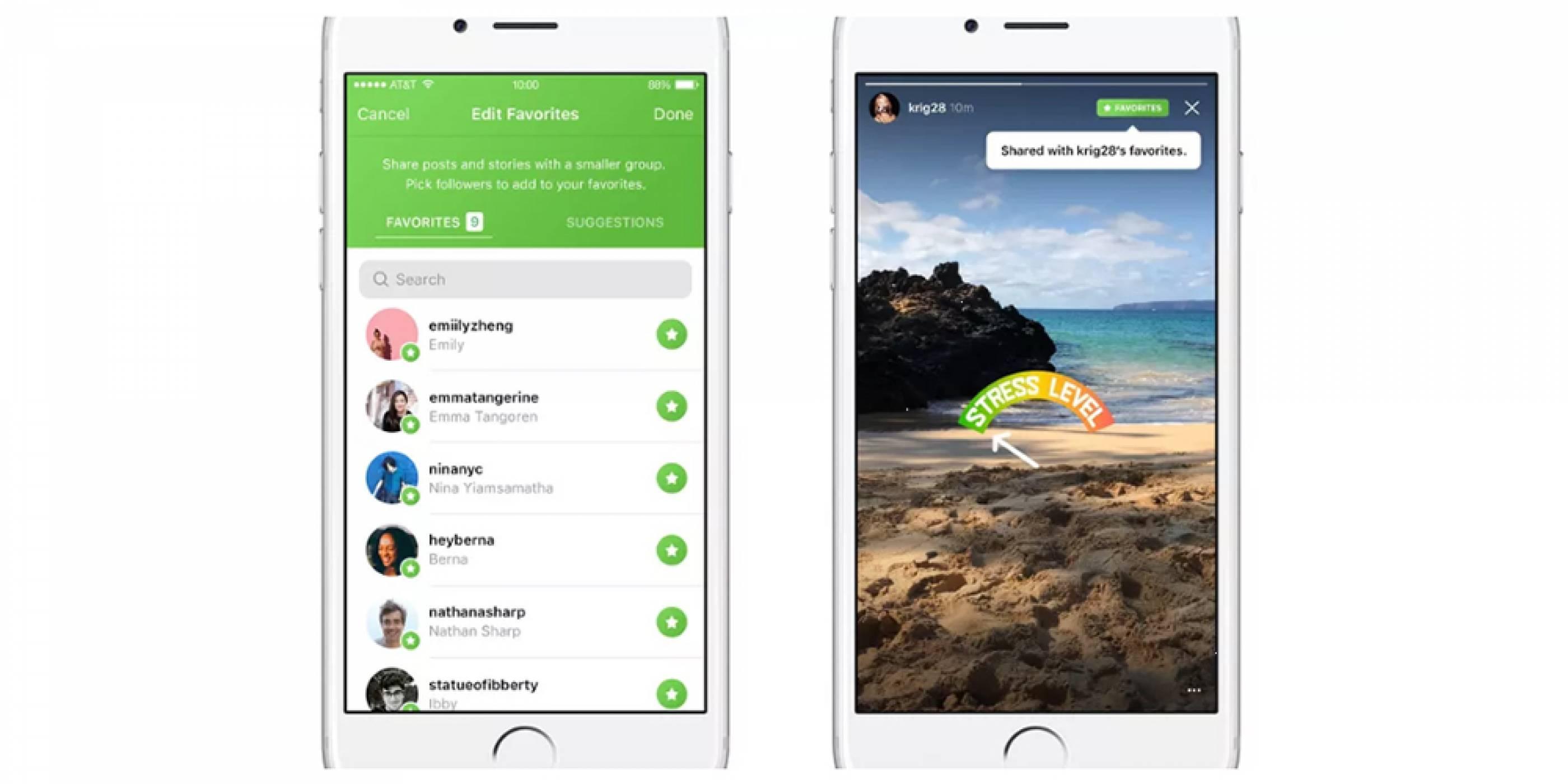Instagram тества Favorites функция за споделяне на съдържание с избрани приятели