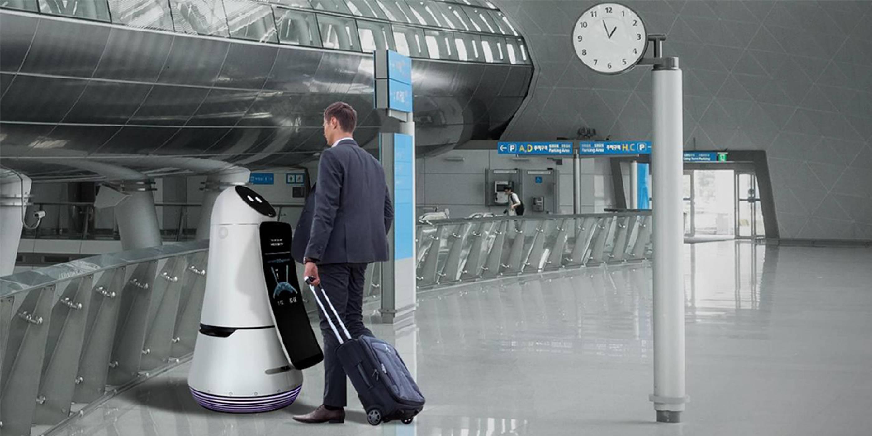 LG вече тества своите специални летищни роботи