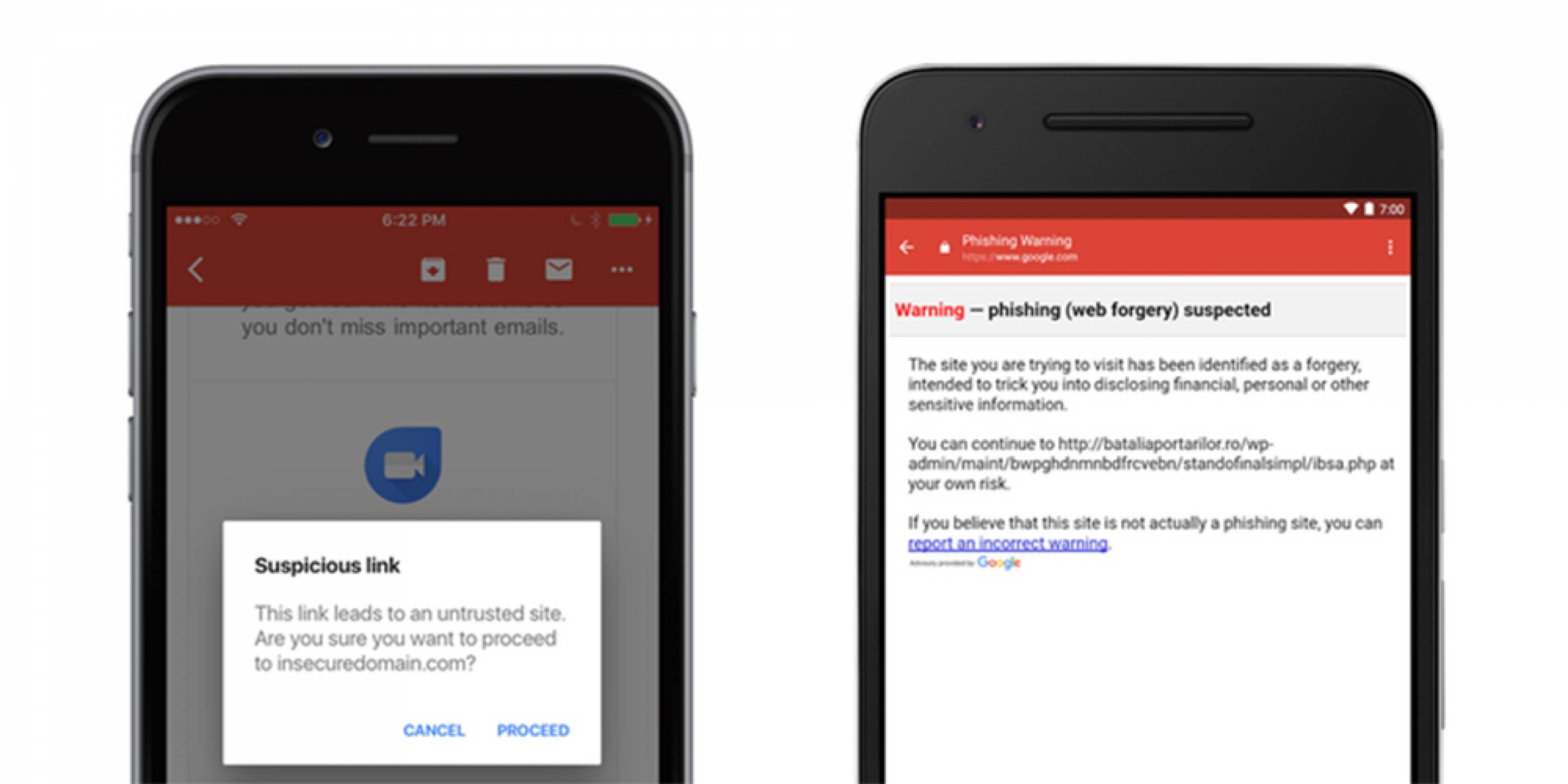 Gmail за iOS получи функция за предупреждения за фишинг атаки