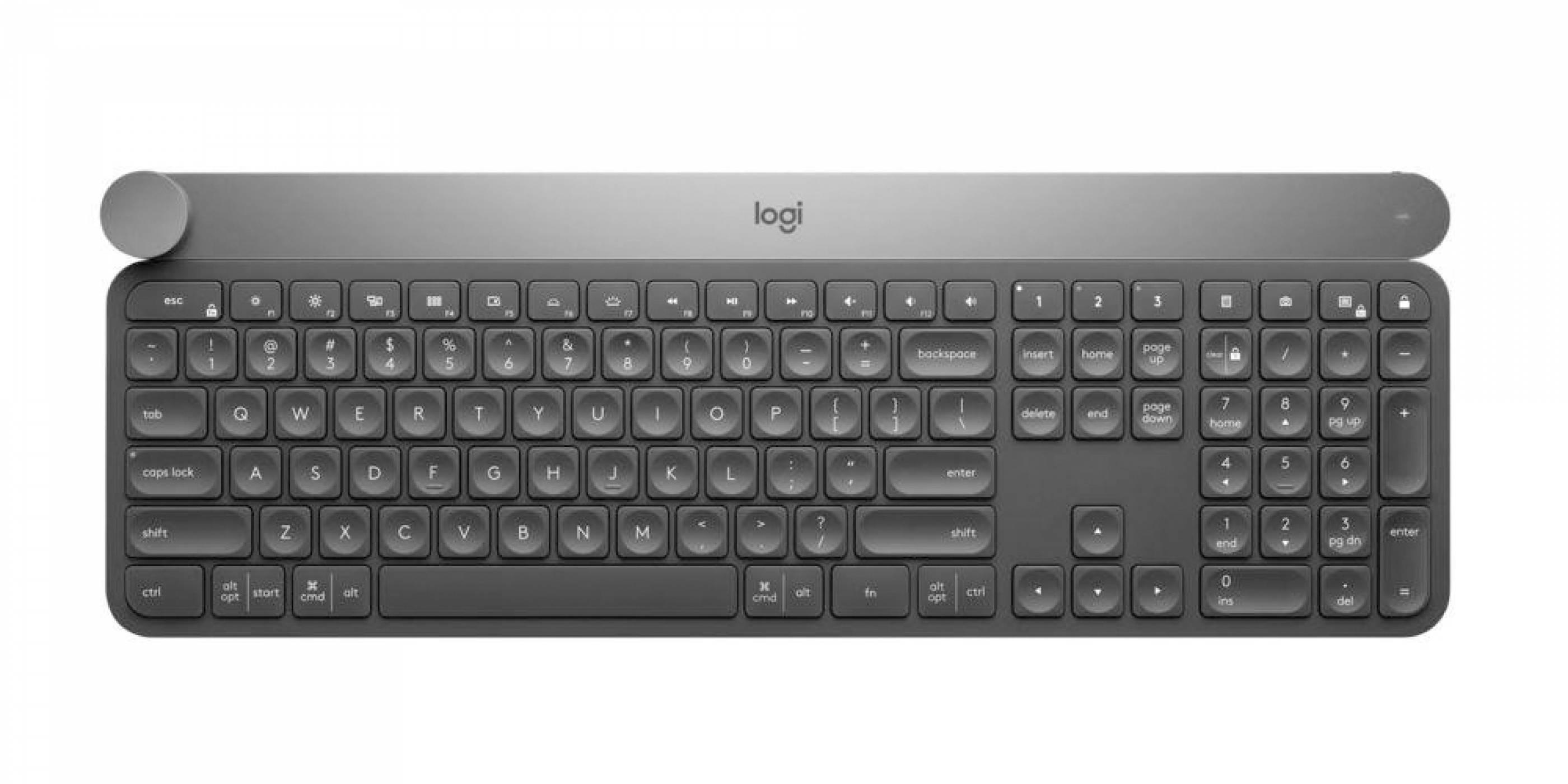 Logitech Craft е нова Bluetooth клавиатура с въртящ се бутон за творчески задачи