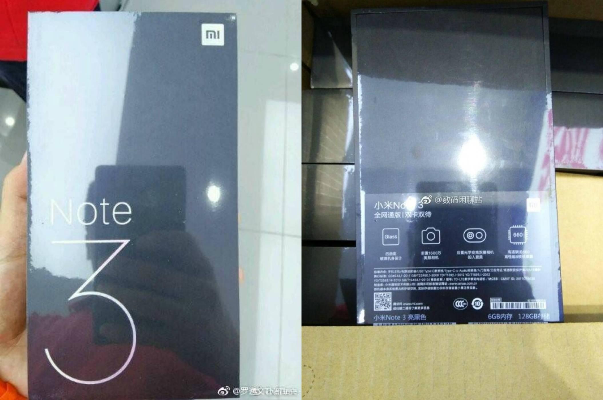 Снимка на кутията на Mi Note 3 потвърди, че смартфонът ще работи със Snapdragon 660