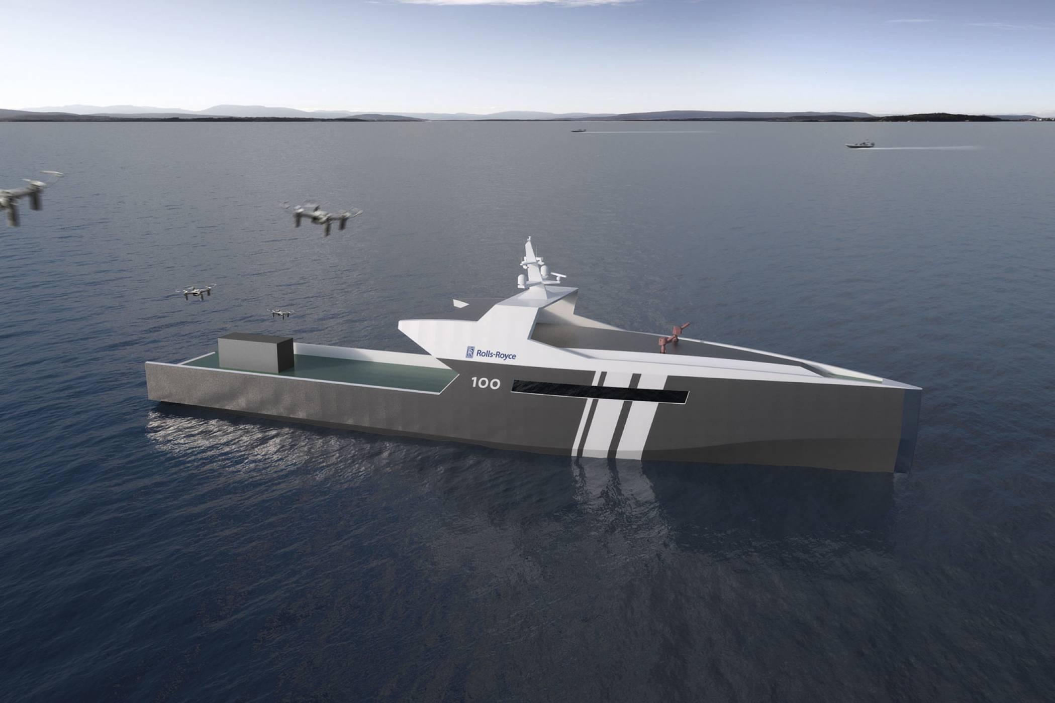Автономен катер на Rolls-Royce ще пази бреговете