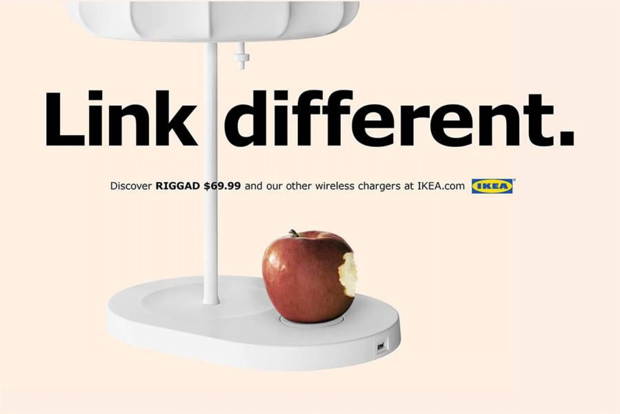IKEA използва вдъхновение от Apple, за да промотира продуктите си с безжично зареждане