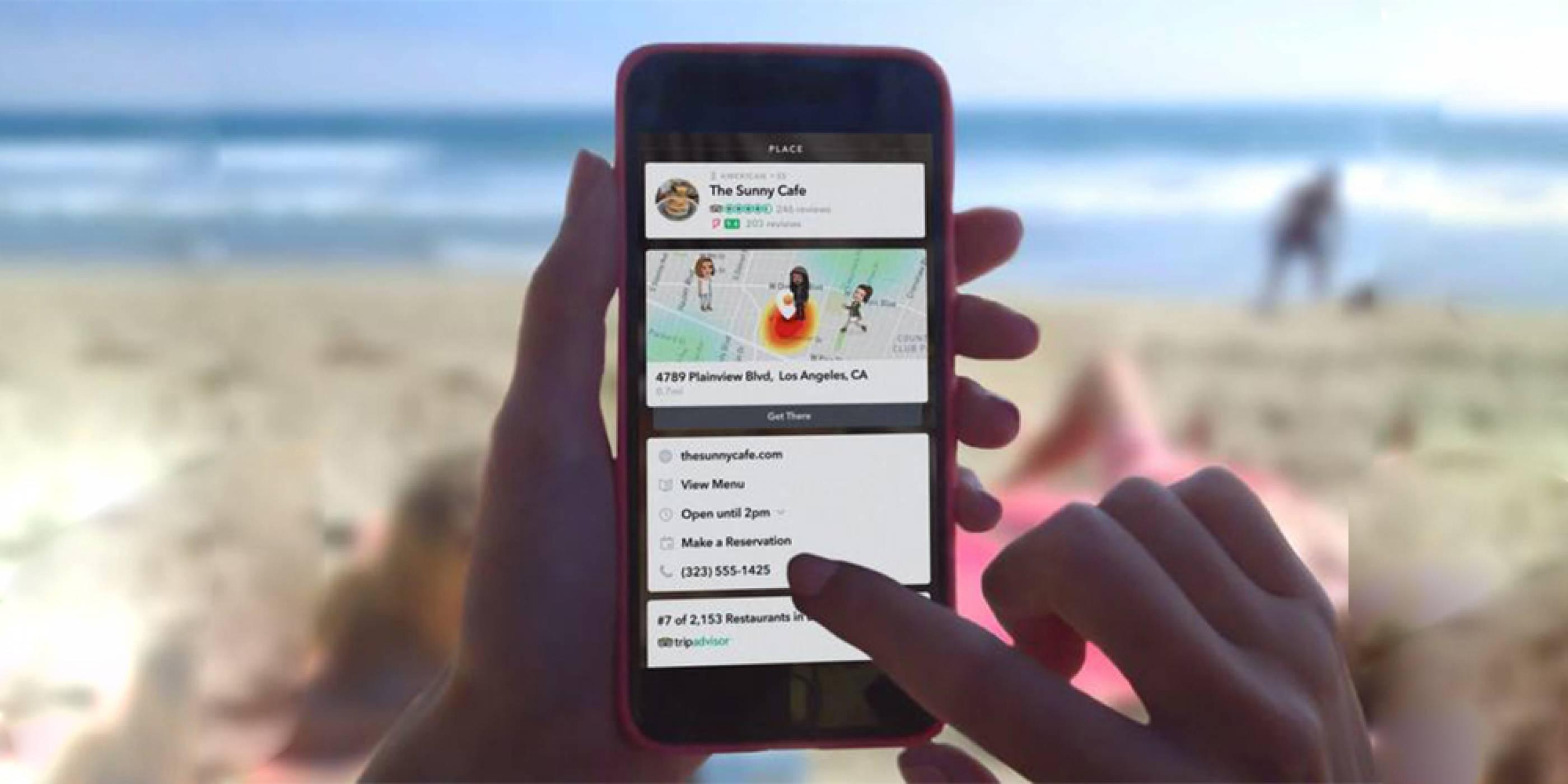 Snapchat се сдоби с карти за местоположения