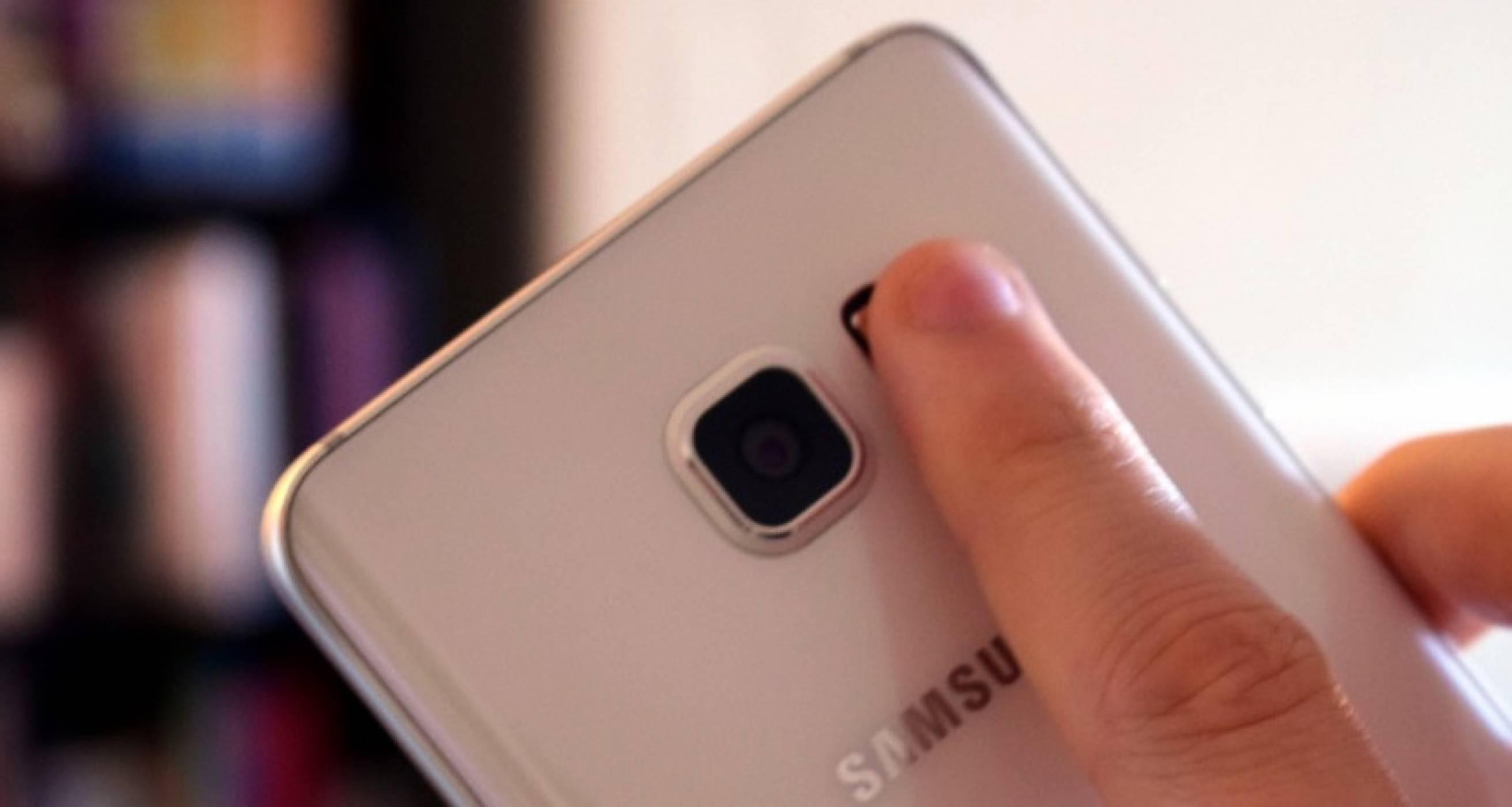 Samsung патентова вграден в дисплей скенер на отпечатъци
