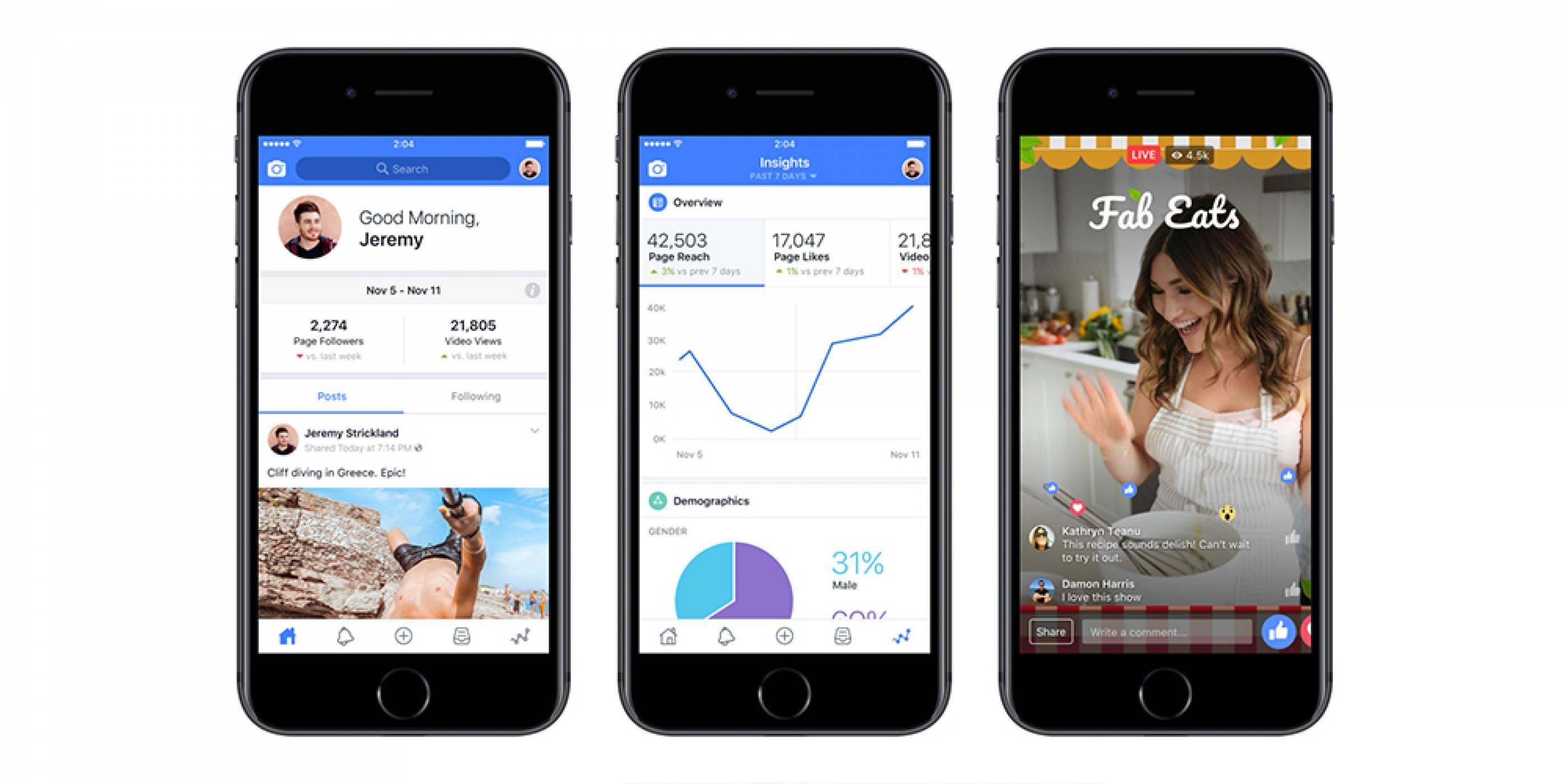 Facebook стартира специално приложение за създатели на видео съдържание