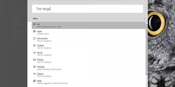 Microsoft тества търсене, подобно на Apple Spotlight в Windows 10