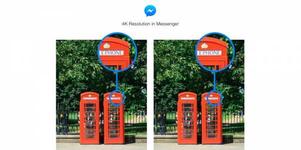 Facebook Messenger се сдоби с възможността за изпращане на снимки с 4K качество