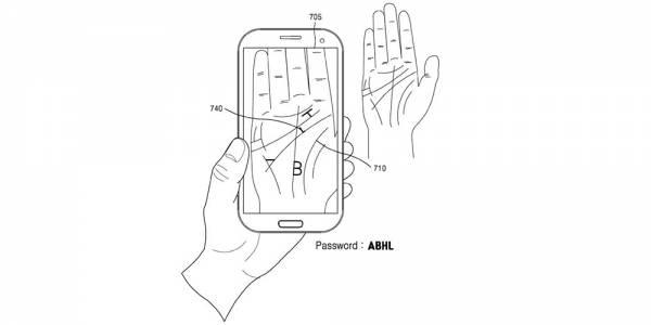 Samsung с нов патент за биометрично сканиране на дланта