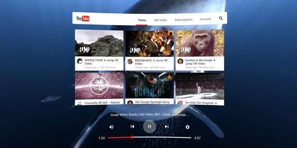 YouTube VR е достъпно и за HTC Vive чрез платформата Steam VR